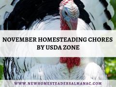 November Homesteading Chores by USDA Zone - The New Homesteader's Almanac