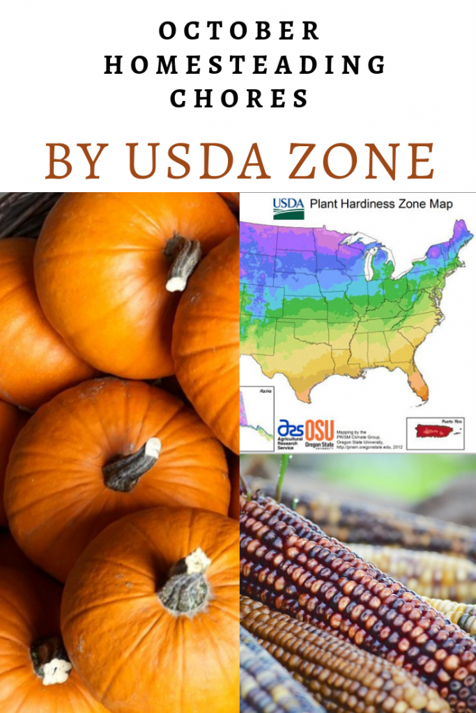 October Homesteading Chores by USDA Zone - The New Homesteader's Almanac